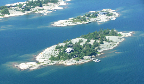 House on an island, Georgian Bay