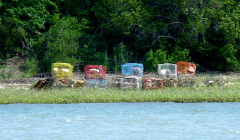 The Intracoastal Waterway - crab pots