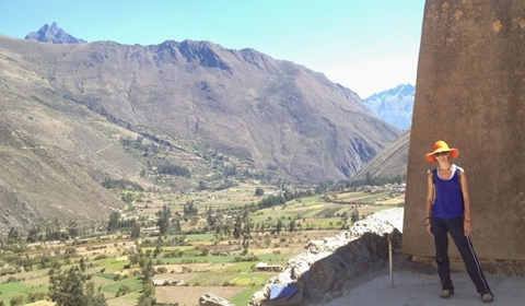 Our daughter Annie in the Sacred Valley