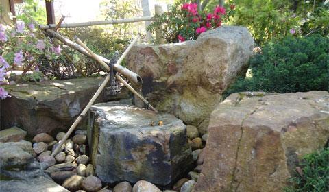 Japanese Friendship Garden - bamboo pipe