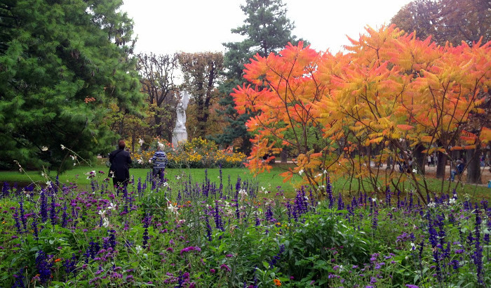 Jardin du Luxembourg in the autumn