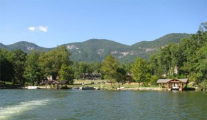 Cove where part of Dirty Dancing was filmed, Lake Lure, North Carolina