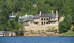 Muti-million dollar homes on Lake Lure