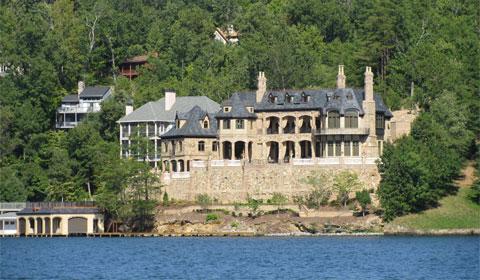 Muti-million dollar homes on Lake Lure