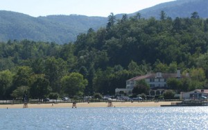 Lake Lure beach and resort