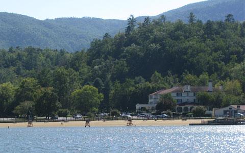 Lake Lure beach and resort