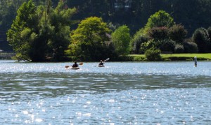 Canoeing on Lake Lure