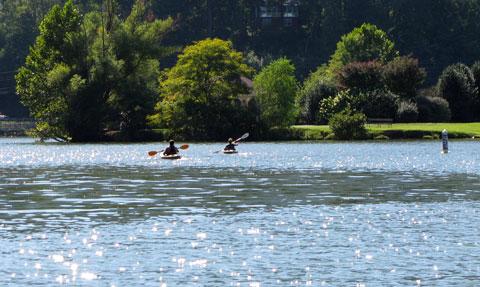 Kayaking on Lake Lure
