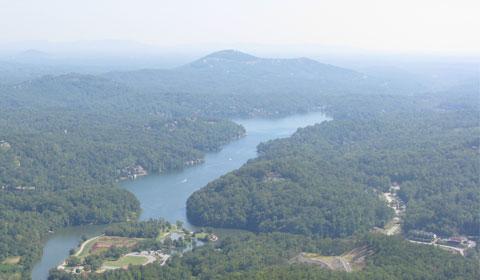 Lake Lure from Chimney Rock, North Carolina