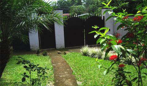 The gated entrance to Casa de Megumi