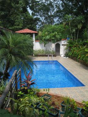 The pool at Hisano's house