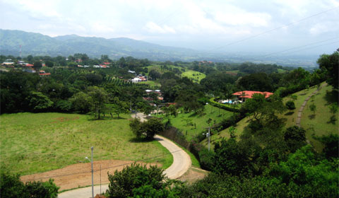 The countryside around Atenas, Costa Rica
