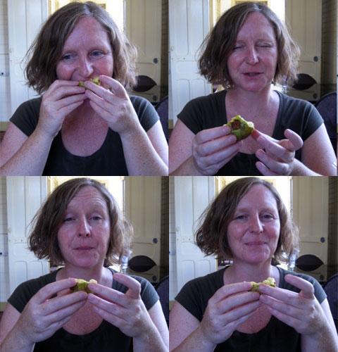 Lisa eating Cas