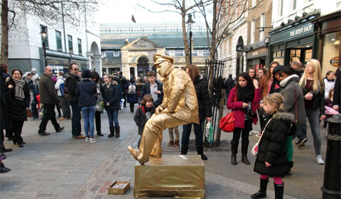 Covent Garden living statue