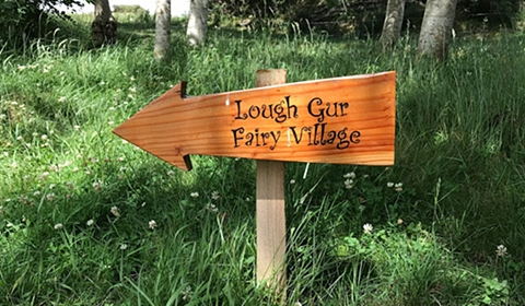 Lough Gur Fairy Village – That way!