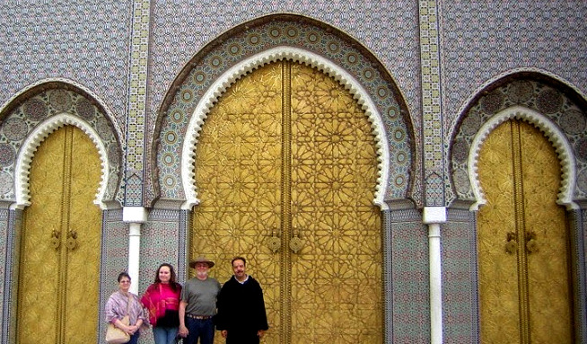Marsha, Leigh, Greg and Abdul at Palace of the King
