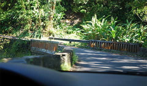 One lane bridge, road to Hana on Maui