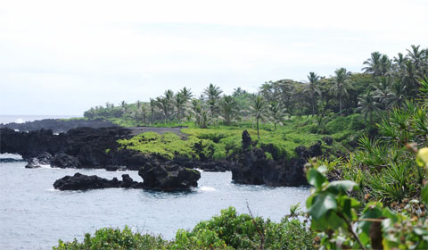 View from cave exit, Waianapanapa State Park