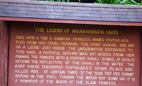 The legend of Waianapanapa Caves