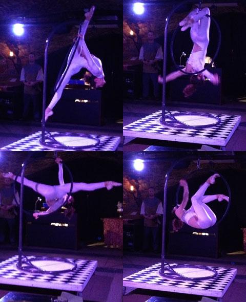 Maria on the aerial hoop