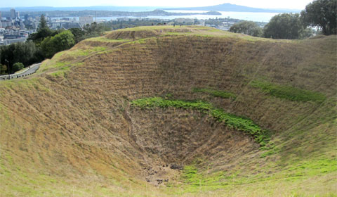 Mount Eden's crater