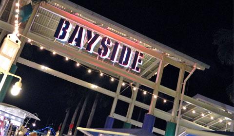 Bayside at night