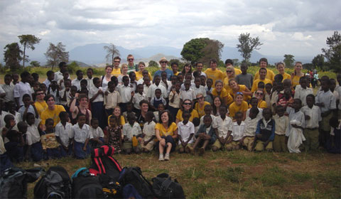 Climb Kilimanjaro for Kids group at a Tanzanian school