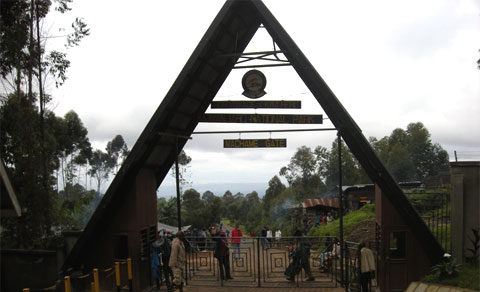 Entrance gate to the Mount Kilimanjaro climb