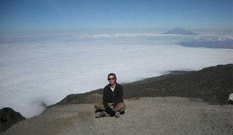James Barnett on Mount Kili