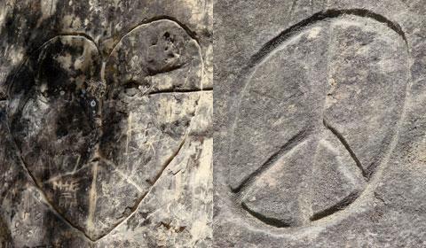 Rock carvings   Mt. Diablo