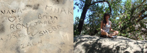 Rock graffiti   Mt. Diablo