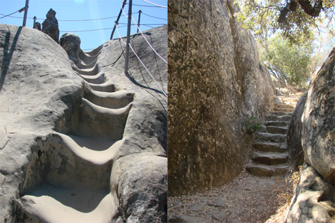 Rock staircases, Rock City, Calif.