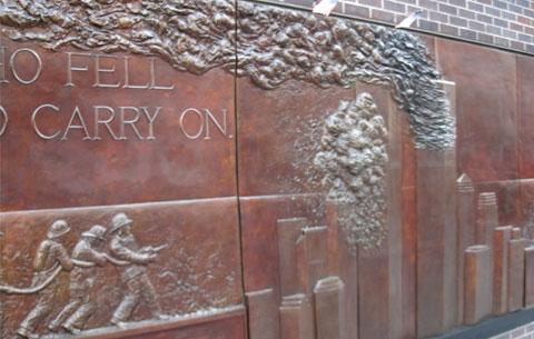 9-11 memorial across from Ground Zero
