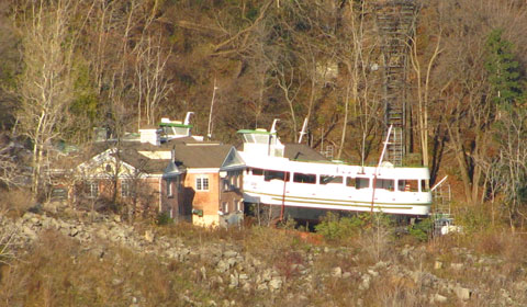Maid of the Mist dry-docked for the winter