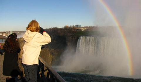 Double rainbow at Horseshoe Falls