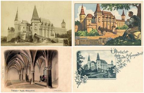 Old Hungarian postcards of Vajdahunyad Castle.