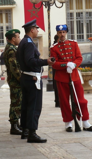 Palace Guard and other law enforcement, Fez (the king was in town!)