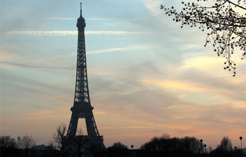 Pictures  Eiffel Tower  Built on The Eiffel Tower  Paris   Photo Copyright Estrella Azul