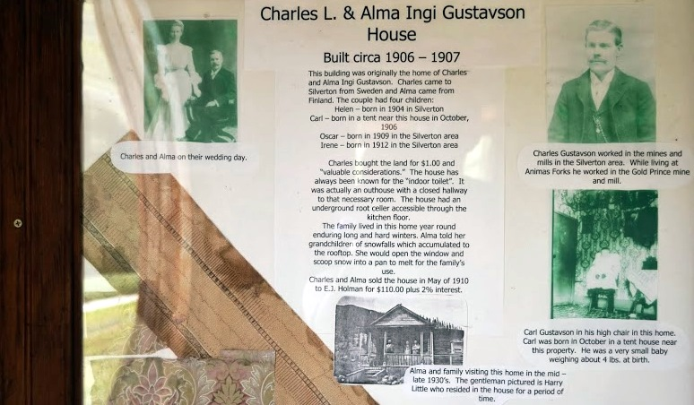 History in a frame, inside the Gustavson house