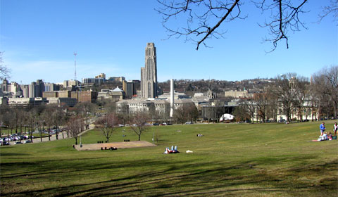 Pittsburgh skyline from Schenley Park