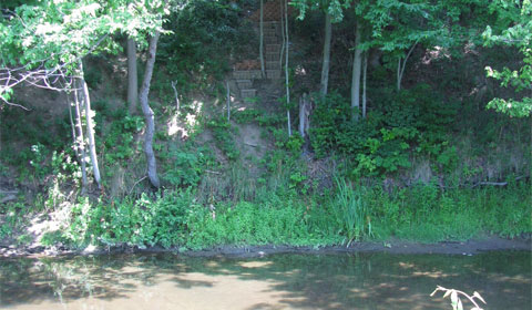 Steps down to Yellow Creek, Poland, Ohio