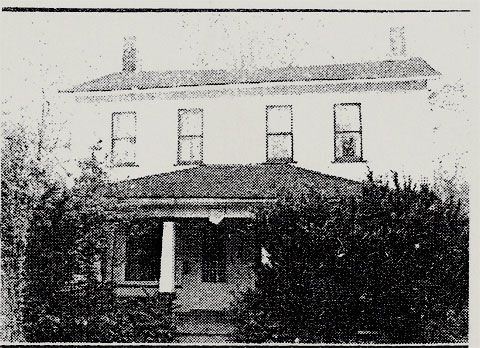 Newspaper photo of historic house, Poland, Ohio