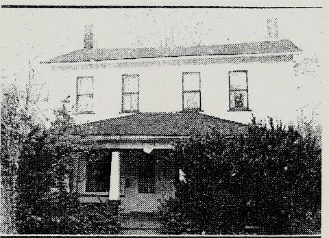 Newspaper photo of historic house, Poland, Ohio
