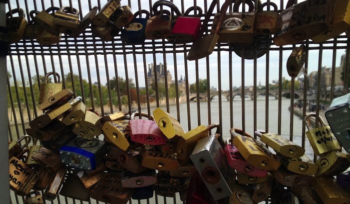 Pont des Arts, locks of love