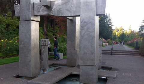 The Frank L. Beach Memorial, Portland Rose Test Gardens