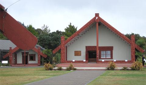 Rotowhio Marae, in Te Puia Park, Rotorua, New Zealand