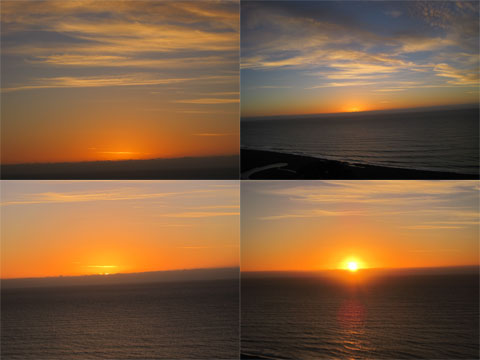 Four stages of sunrise, Rangitukia