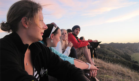 Rangitukia sunrise watchers