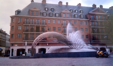 City fountain in Kotrijk, Belgium