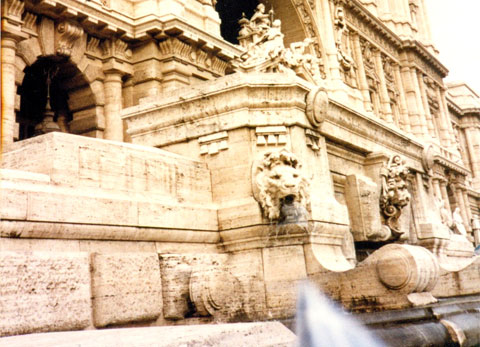 Beautiful Roman fountain